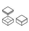 Box outline vector