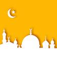Islamic architecture background ramadan kareem vector