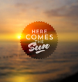 Type design against a sea summer sunset vector