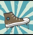 Sneakers grunge background vector