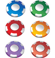 Color casino chips vector