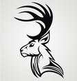 Tribal deer head vector