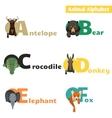 Animal alphabet set 1 vector