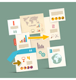 Infographics paper layout - template vector