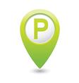 Parking sign green pointer vector