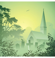 Landscape with church vector