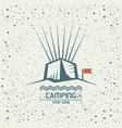 Camping emblem vector