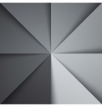 Gray and white tones folded paper triangles vector