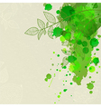 Background with green blots and leaves vector