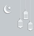 Arabic background for ramadan kareem vector
