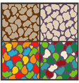 Set seamless patterns of abstract stones vector