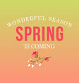 With template text spring is coming creativ vector