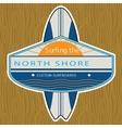 Surfer sticker north shore vector