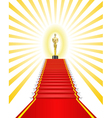 Golden statue red carpet vector