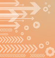 Abstract arrow on orange background vs vector