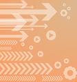 Abstract arrow on orange background vs vector
