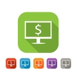 Color set of flat internet business icon vector