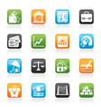Business and bank icons vector