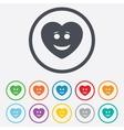 Smile heart face icon smiley symbol vector