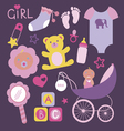 Its a girl mega set vector