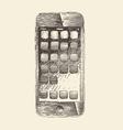 Smart phone smartphone mobile tablet engraved vector