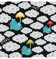 Weather birds pattern vector