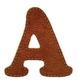 Leather textured letter a vector