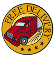 Free delivery truck vector