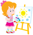 Little artist vector