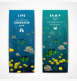 Diving vertical banners vector