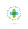 Medical center logo icon design template with vector