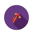 Christmas festive stars flat icon vector