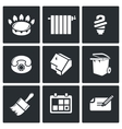 Utilities icons set vector