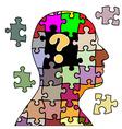 Puzzle man vector