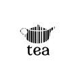 Barcode tea concept vector