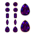 Set of five forms of black opal vector