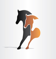 Horses running abstract design vector