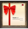 Gift envelope with a bow in box vector