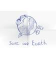 Hand drawn cartoon earth vector