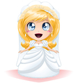 Bride dressed for her wedding day vector