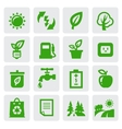 Green eco symbols vector