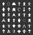 Set icons of arrows vector