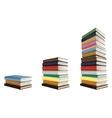 Stacks of books vector