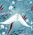 Texture of the white whale lovers vector
