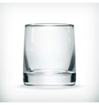 Empty glass with transparency vector