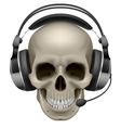 Skull with headphones vector