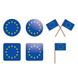 Badges with european union flag vector