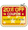 Coupon twelve percent discount vector