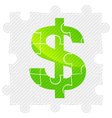 Green dollar sign vector