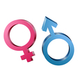 Male and female sex symbols vector